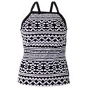 JAG Mix and Match Collection​ Geometric Print High Neck Tankini for Ladies