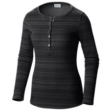 Columbia Lodge Jacquard Henley Long-Sleeve Shirt for Ladies