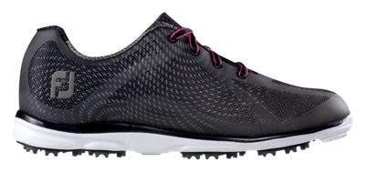 Footjoy 98003 W075 emPOWER Womens Golf Shoes Black & Charcoal - 7.5 Wide