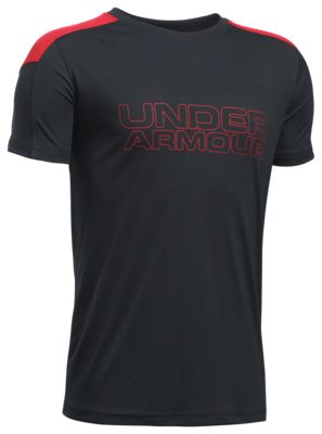 ?Under Armour Activate HeatGear T Shirt for Boys? Black/Red L