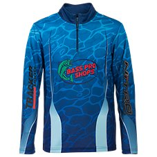 Bass Pro Shops 1/4-Zip Fishing Jersey for Kids