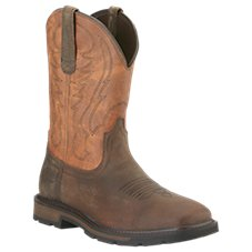 Ariat Groundbreaker Wide Square Toe Western Work Boots for Men