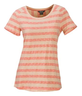 Natural Reflections Striped Scoop Neck Top for Ladies - Camellia - 2X
