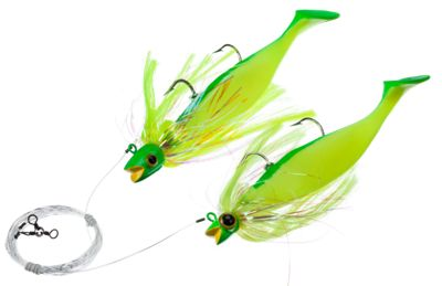 Blue Water Candy Rock Fish Candy Loaded Tandem Parachute Rig  by