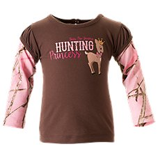 Bass Pro Shops Hunting Princess Layered T-Shirt for Baby Girls