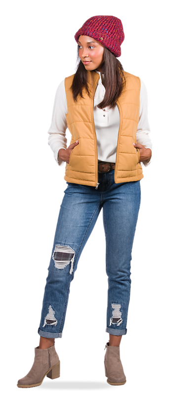 Get the Quilted Vest Look