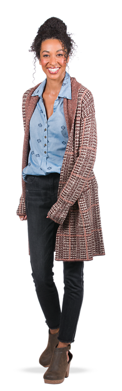 Get the Plaid Sweater Look