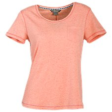 Natural Reflections Nep Yarn Short-Sleeve T-Shirt for Ladies
