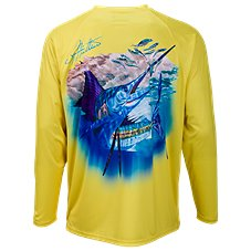 World Wide Sportsman Saltwater Printed Sailfish Long-Sleeve Shirt for Men