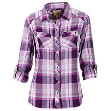 Ascend Snap-Front Plaid Shirt for Ladies