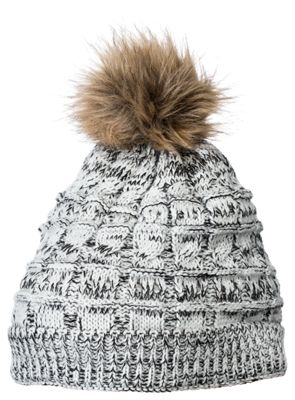 Natural Reflections Pom Beanie Hat for Ladies - Gray