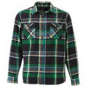 Ascend Yarn-Dyed Acid-Washed Flannel Shirt for Men