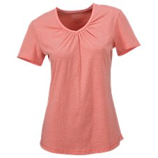 Natural Reflections Gathered V-Neck T-Shirt for Ladies