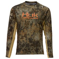 Huk Kryptek Icon Mid-Layer Mock Neck Shirt for Men