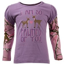 Bass Pro Shops Fawned of You Layered T-Shirt for Toddler Girls