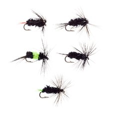 K & E Stopper Lures Black Gnat Fly Assortment
