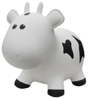 Farm Hoppers White Cow Bounce Toy for Toddlers  by