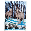 Bass Pro Shops Raschel Fleece Gather for the Hunt by Pat Pauley Throw Blanket