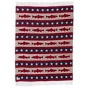 Bob Timberlake Fishing in the USA Fringed Throw Blanket