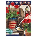 Evergreen Patriotic Garden Satin Reflections House Flag