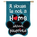 Evergreen Without Pawprints Burlap House Flag