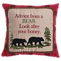 Bob Timberlake Advice from a Bear Throw Pillow