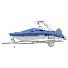 Taylor Made Trailerite Semi Custom Boat Cover for Euro Style V-Hull Runabout Wakeboard Tower Outboard
