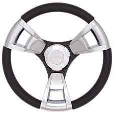 Gussi Chrome Marine Steering Wheel
