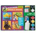 PBS KIDS Super Simple Crafts Sticks & Stones Book and Activity Kit for Kids
