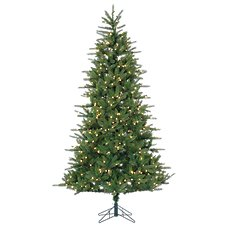 Sterling 7.5' Natural Cut Franklin Spruce Artificial Christmas Tree with Clear Lights