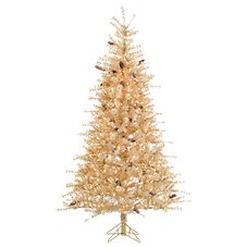 Sterling 7' Pre-Lit Buttercream Frosted Artificial Christmas Tree with Clear Lights