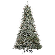 Sterling 7.5' Pre-Lit Lightly Flocked Chesapeake Pine Artificial Christmas Tree with Clear Lights