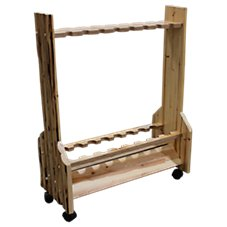 Rush Creek Creations 16 Fishing Rod Rolling Storage Rack