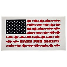 Bass Pro Shops Fish Flag Premium Beach Towel