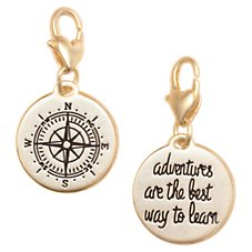 Amanda Blu Heartfelt Emotions Compass/Find Adventure Clip-On 2-Sided Medallion