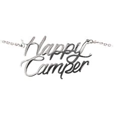 Amanda Blu Happy Camper Stainless Steel Word Necklace