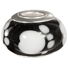 Amanda Blu Add-A-Bead Paw Print Glass Bead