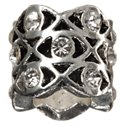 Amanda Blu Add-A-Bead Silver-Plated Lattice Bead