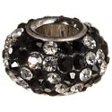 Amanda Blu Add-A-Bead Black and Diamond Zigzag Pave Crystal Bead