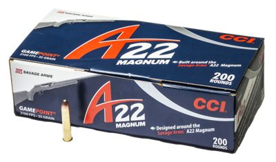 CCI A22 Magnum Gamepoint Rimfire Ammo  by