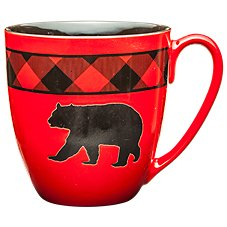 Bass Pro Shops Bear Country Buffalo Plaid Bear Giant Mug