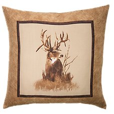 King of Bucks Deer Throw Pillow