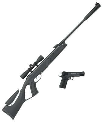 Gamo Whisper G2 Air Rifle and Red Alert BB Pistol Combo  by