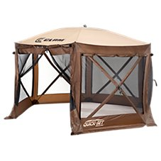 Clam Quick-Set Pavilion 6-Sided Outdoor Canopy