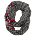 Quagga Stitched Ikat Infinity Scarf for Ladies