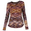 Natural Reflections Space Dye Sweater for Ladies