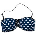 Cole of California Navy Dot Mix and Match Collection Bandeau Top for Ladies