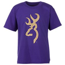 Browning Gold Glitter Buckmark T-Shirt for Girls