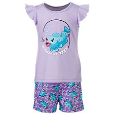 Bass Pro Shops Hooked on ZZZZ Fish Print Pajama Set for Toddlers or Girls