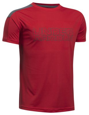 ?Under Armour Activate HeatGear T Shirt for Boys? Red/Graphite L